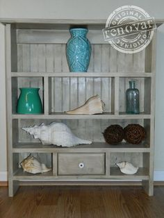 DIY Country Heart Shelf Turned Coastal Cottage Eye Candy