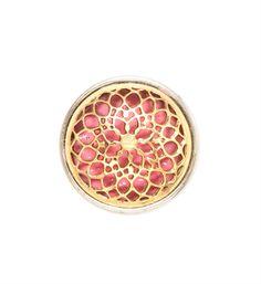 Chunk Rose window pink, in der Farbe gold pink. Pandora Charms, Schmuck Online Shop, Rose Window, Schmuck Design, Pink And Gold, Charmed, Windows, Pure Products, Metal