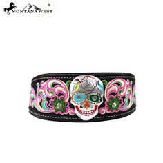 HB-017 Montana West Sugar Skull Headband - Accessories