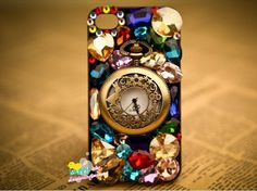 iphone cases, iphone 4s, iphon 44s5, rhineston, protect case, pocket watches, crystal, iphone 4 cases, iphone 5 cases
