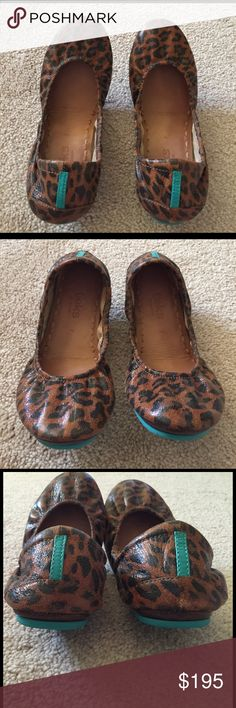 Leopard print Tieks Size 7 Barely used leopard print Tieks. Excellent condition - see all pictures. Tieks Shoes Flats & Loafers