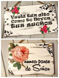 cuadros carteles frases  vintage de diseño Wooden Signs With Sayings, Diy And Crafts, Arts And Crafts, Custom Wooden Signs, Decoupage Vintage, Garden Art, Wood Art, Retro Vintage, Crafty