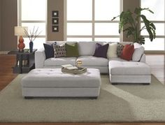 Linato 2-Piece Sectional + Free Cocktail Ottoman from American Signature Furniture $699.00 (13% Off) -