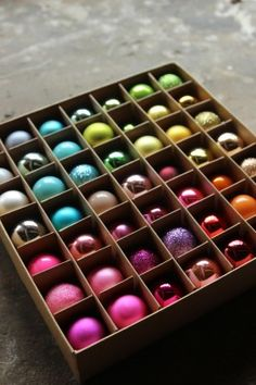 Set of 49 Multi-Coloured Mini Baubles from Rockett St George #ChristmasIdeas #ChristmasDecorations #ChristmasTime #TisTheSeason #Multi #Baubles #ColourfulChristmas #Shop Christmas Tree Goals, Hanging Christmas Tree, Colorful Christmas Tree, Christmas Love, Christmas 2017, Christmas Baubles, Christmas Wreaths, Christmas Tree Decorations, Holiday Decor