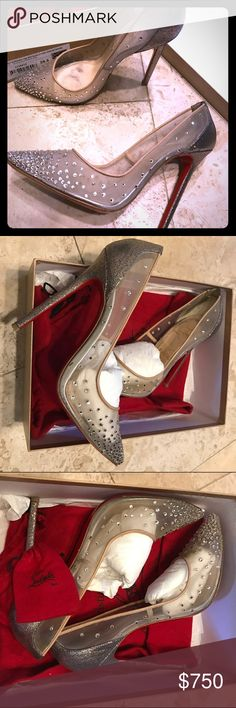 Body Strass 120 Glitter/ Version Grenadine 39.5 Used in excellent condition, size 39.5 I think it fits best US 8.5 Christian Louboutin Shoes
