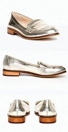 1c6066ebe10385 Caroline Metallic Loafers  lt 3 perfect accessory to dress up or down  Metallic Loafers