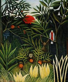 """New artwork made with love for you! - """" Landscape With Monkeys Painting by Rousseau Henri """" - https://ift.tt/2M8zuEV"""