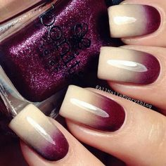 Ombre nails are very trendy now. You can achieve the desired effect by using nail polish of different colors. To help you look glamorous, we have found pictures of beautiful nails. Fabulous Nails, Gorgeous Nails, Pretty Nails, Perfect Nails, Nail Lacquer, Nail Polish, Hot Nails, Hair And Nails, Diy Ongles