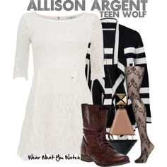 "Inspired by Crystal Reed as Allison Argent on ""Teen Wolf"" - Shopping info!"