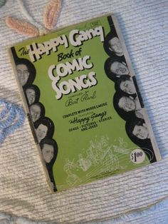 40% Off SALE - The Happy Gang Book of Comic Songs Compiled by Bert Pearl - was 15/now 9