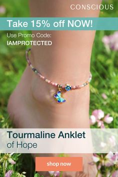 AQUA ANKLETS Double Strand Twist 3 Sizes 9.5 10.5 11 plus extra rings for length