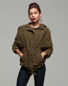 soldier on parka jacket 01 Win with Stylemology Winter Wardrobe, Parka, Military Jacket, Ruffle Blouse, Gray, My Style, Jackets, Tops, Women