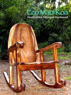 Salvaged Koa Rocking Chair by Eco Maui Koa