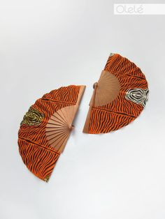 Choisissez votre couleur - Eventail en Pagne Africain cadeau d'été safari