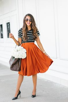 Mod Cloth Midi Skirt, Houston, Texas, summer skirt, houston fashion, fashion blogger, Dress up Buttercup