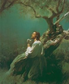 """Jesus Praying in Gethsemane"" by Harry Anderson  Very real..."