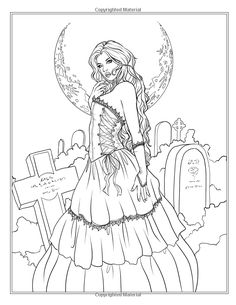 Amazon.com: Night Magic - Gothic and Halloween Coloring Book (Fantasy Coloring…