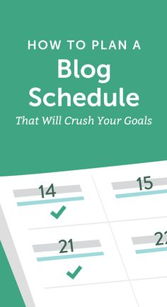 Get Your Blog Schedule Template For Free! http://coschedule.com/blog/plan-a-blog-schedule/?utm_campaign=coschedule&utm_source=pinterest&utm_medium=CoSchedule&utm_content=How%20To%20Plan%20A%20Blog%20Schedule%20That%20Will%20Crush%20Your%20Goals