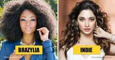 The most beautiful women according to different nations
