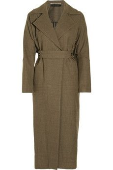 Roland Mouret|Lewis hopsack-wool coat|NET-A-PORTER.COM - StyleSays