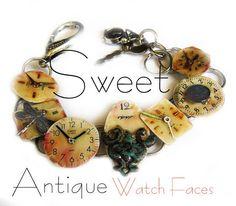 Vintage Watch face Bracelet