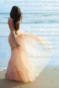 Individuality in The Siren by Kiera Cass