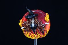 Beautiful Fire Witch Large Size Handmade by TangledDragonStudio