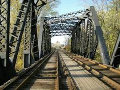 Railroad bridge in Nelsonville, OH.
