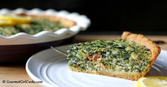 Gourmet Girl Cooks: Greek Style Spinach-Feta Pie w/ Bacon - Low Carb