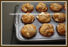 These (see pictures), HEALTHY Cinnamon Apple Muffins are quick, easy and scrumptious for Breakfast, Lunch or Snack time!