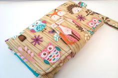 Pearl Wallet Clutch Made in Woodland Critters by GrandmasLittleLilly on Etsy