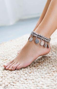Royalty Silver Coin Bracelet | Beginning Boutique #BBFEST #beginningboutique
