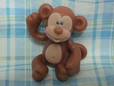 mono en porcelana fria de artesanias princesitas