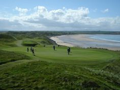 Beautiful Ballybunion golf course, Ireland.  Tom Watson's Favorite golf course in the world.   I can get you there.  mlombard@cruiseplanners.com