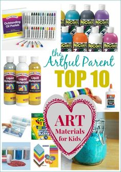 Artful Parents Top 10 Ten Favorite Art Materials For Kids Plus Another 15