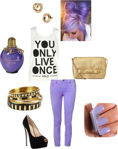 """Pretty in Purple"" by grace-bryant98 on Polyvore"