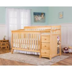 6a503fb2864 Dream on Me Brody 5-in-1 Convertible Crib and Changer with Conversion Posts