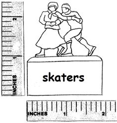 """View topic - Making a """"flat cardboard skating couple"""". Putz Houses, Glitter Houses, Christmas Villages, Paper Houses, Tim Holtz, Christmas Projects, Skating, Dollhouse Miniatures, Xmas"""