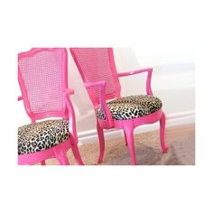 Pink & Leopard Print Chairs - I could paint a chair with pink lacquer paint and re-upholster the seat cushion in leopard print fabric for my room Leopard Print Chair, Pink Leopard Print, My New Room, My Room, Home Design, Painted Furniture, Diy Furniture, Do It Yourself Inspiration, Everything Pink