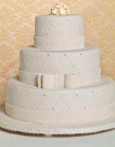 A inspiração para o seu casamento pode vir de qualquer lugar... Dá só uma olhada nesse lindo bolo inspirado no matelassê! Não ficou lindo e ao mesmo tempo chique? Quais são as suas inspirações para o seu bolo de casamento? www.noivinhostopodebolo.com
