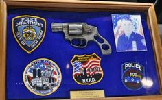 From the 2014 NRA Annual Meeting & Convention, we saw this salvaged revolver from an officer who died in the World Trade Center collapse that is normally on display at the National Firearms Museum.