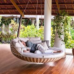 Hanging Porch Swing Porch Swings Home Depot Hanging Outdoor Swing Bed Dream Home Design, Home Interior Design, House Design, Modern Interior, Garden Design, Dream Rooms, House Rooms, Living Rooms, House Yard