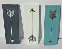 Canvas painting,  arrow painting, 3 peice canvas painting, small canvas paintings, simple canvas painting