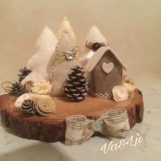 Ciocco realizzato con pannolenci e feltro in collaborazione con Luisa