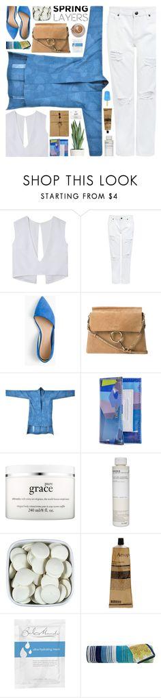 """#966 Wardrobe Basics"" by giulls1 ❤ liked on Polyvore featuring Edit, J.Crew, Chloé, philosophy, Korres, Aesop, Bel Mondo, Missoni Home, blueandwhite and kimono"