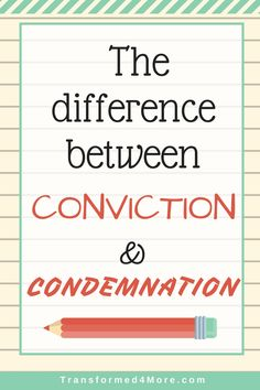 VLOG: The Difference Between Conviction and Condemnation  Christian  Sunday School  Transformed4More.com  Ministry for Teenage Girls