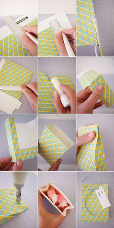 DIY Geometric Gift Bags Tutorial with FREE Printable | Oh Happy Day!