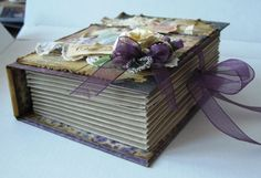 Book shaped box tutorial