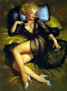 Gil Elvgren Vintage Pin Up Girl Illustration | Pin-Up Girls | Sugary.Sweet | #PinUp #Art #Vintage #Illustration