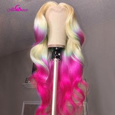 Remy Hair Wigs, Human Hair Wigs, Purple Ombre, Blonde Ombre, Indian Hairstyles, Wig Hairstyles, Frontal Hairstyles, Lace Front Wigs, Lace Wigs